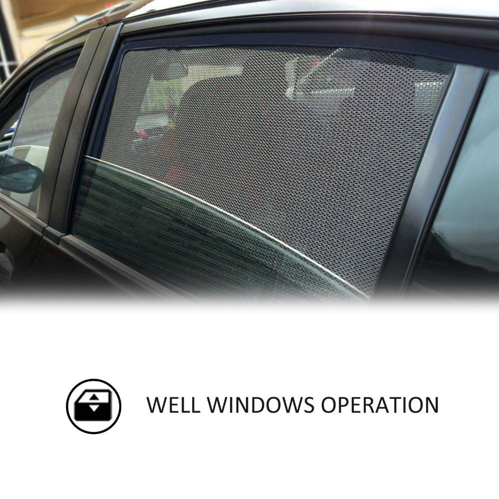 2 pcs 2 Pcs Magnetic Car Front Side Window Sunshade For Ford Escort Focus Mondeo Edge Curtains UV Visor Solar Protection Sun Block Car (2)