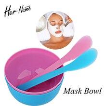 DIY Facial Mask Bowl Makeup Homemade Makeup Beauty bowl Spoon Stick Tool Mixing Spoon Brush Facial Mask Cosmetic Tool