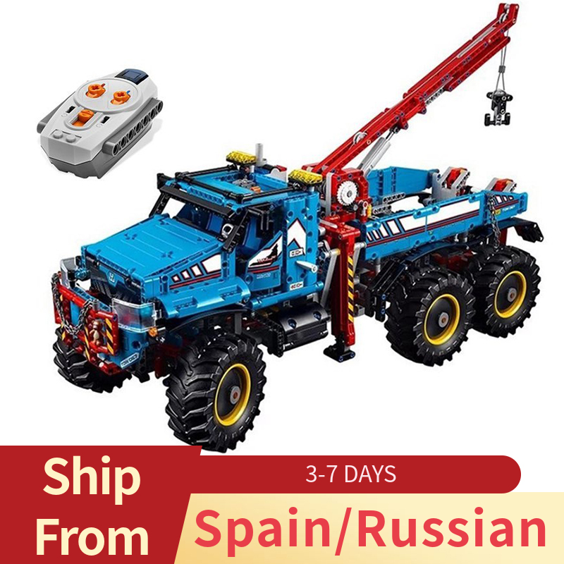 Legoing Technic Remoto Control 6x6 All Terrain Tow รถบรรทุกขนาดใหญ่ Chunky ยาง 2   In   1 รถบรรทุกบล็อกของเล่นเด็ก LEGOings ชุด-ใน บล็อก จาก ของเล่นและงานอดิเรก บน   1