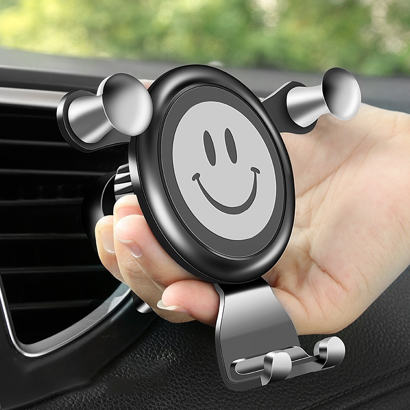 Universal Car Phone Holder Gravity Smile Face Air Vent Mount GPS Smart Cell Phone Mount Car Holder Stand Accessories De Celular in Universal Car Bracket from Automobiles Motorcycles