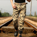 2017 новая военная повседневная Камуфляжные штаны комбинезоны мужские случайные свободные нескольких карман армии брюки плюс размер толщиной