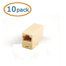 Wholesale 10x RJ45 Ethernet Network Net LAN Plug Cable Join Extension Adapter Connector free shipping
