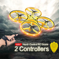 No Camera RC Drone 2.4Ghz 6 Axes LED Light Gravity Sensing Infrared Obstacle Avoidance Watch Control Quadcopter Toy For Kid Gift