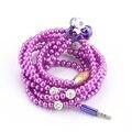 Joyería de moda Collar de perlas de Perlas de 3.5mm En La Oreja Los Auriculares con Micrófono auricular Conectarse a Teléfonos Inteligentes Todo 3.5mm Auriculares