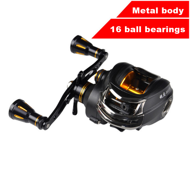 ФОТО THUNDER 15+1 ball bearings Light weight all-metal Lure fishing Left or Right handed reel bait casting reel Double brake system