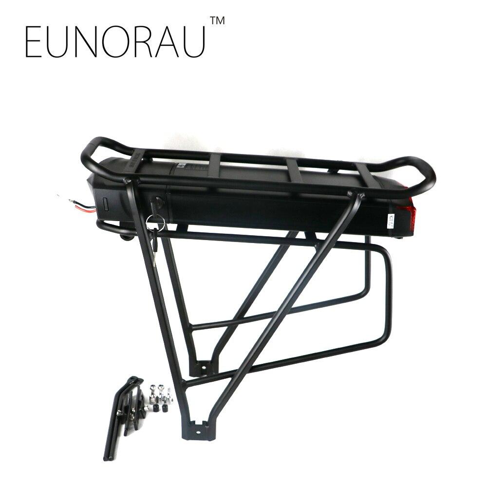 TOP MARQUE! Vélo électrique 36V17Ah 1203 noir batterie avec porte-bagages arrière