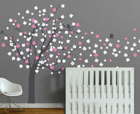 פריחת דובדבן Nuesery וול המדבקה ויניל עץ בייבי ילדים מדבקות קיר דקורטיבי קיר חדר ילדים חדר שינה אמנות יופי עץ D-324