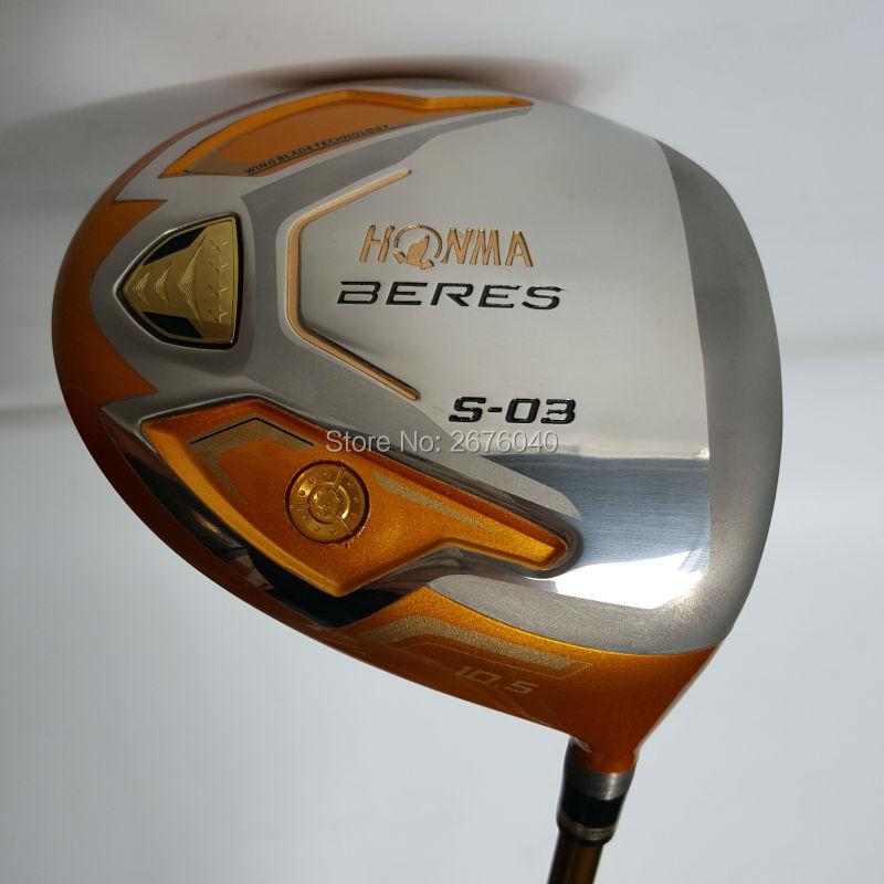Golf clubs HONMA S-03 4 Étoiles Or couleur Golf pilote 9.5or10.5 loft Graphite arbre R ou S flex Clubs du pilote Livraison gratuite