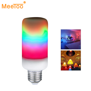 LED Rainbow Flame Effect Fire Light Blub Novelty Lighting Colorful Flame Lamp Home Decor Flickering Emulation Decorative Lamps