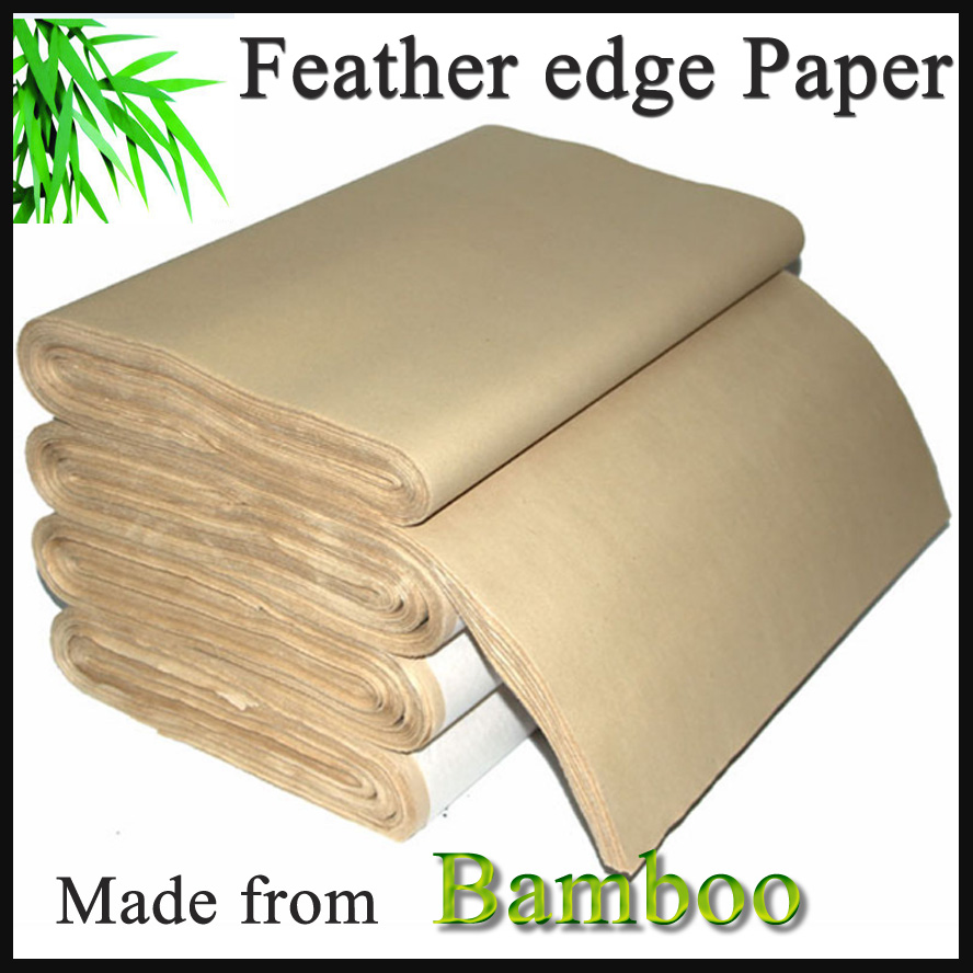 Antique Painting Paper Traditional Chinese Writting Feather edge Rice Paper made from Bamboo for Painting Calligraphy StationaryAntique Painting Paper Traditional Chinese Writting Feather edge Rice Paper made from Bamboo for Painting Calligraphy Stationary