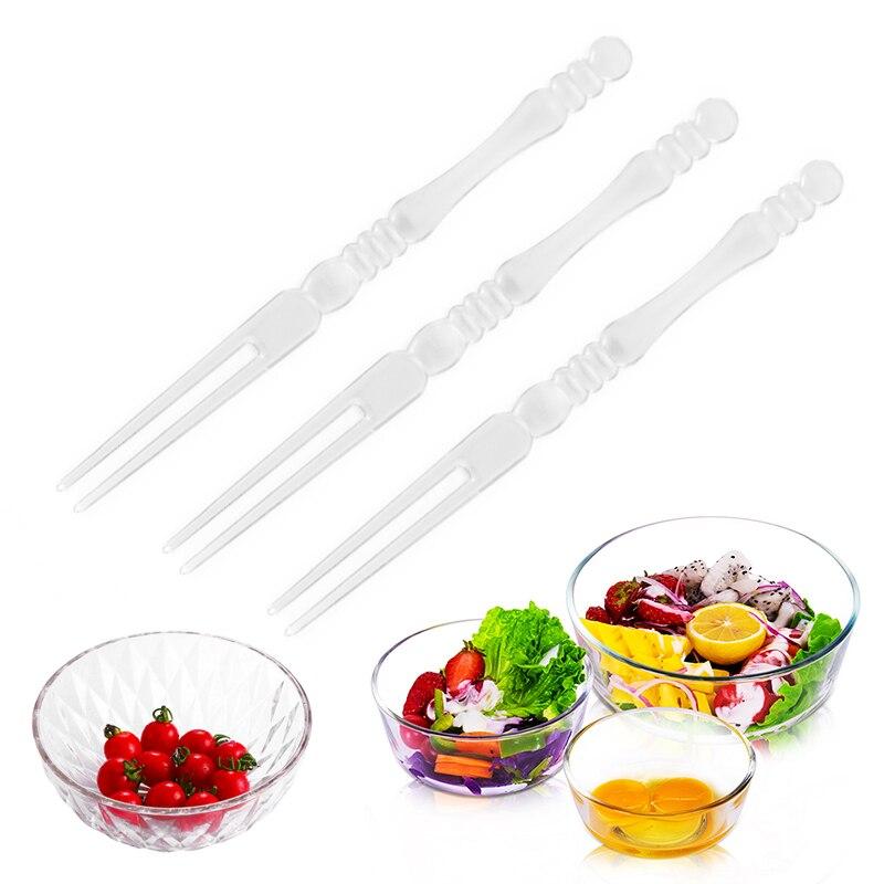 50pcs flamingo dining disposable plastic food cake fruit fork picks skewer se IJ