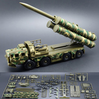 1:72 car models, high simulation S300 missile launch vehicle model, plastic diecasts, toy vehicles 30N6E2 Radar Car Educational