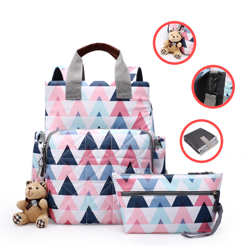 2019 New Waterproof Diaper Bag For Mommy Maternity Nappy Backpack Printing Baby Stroller Organizer Nursing Changing Bag To Care