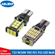 ASLENT 2PCS T15 W16W 921 912 Super Bright 1200Lm 3030 SMD LED CANBUS NO OBC ERROR Car Backup Reserve Lights Bulb Tail Lamp White