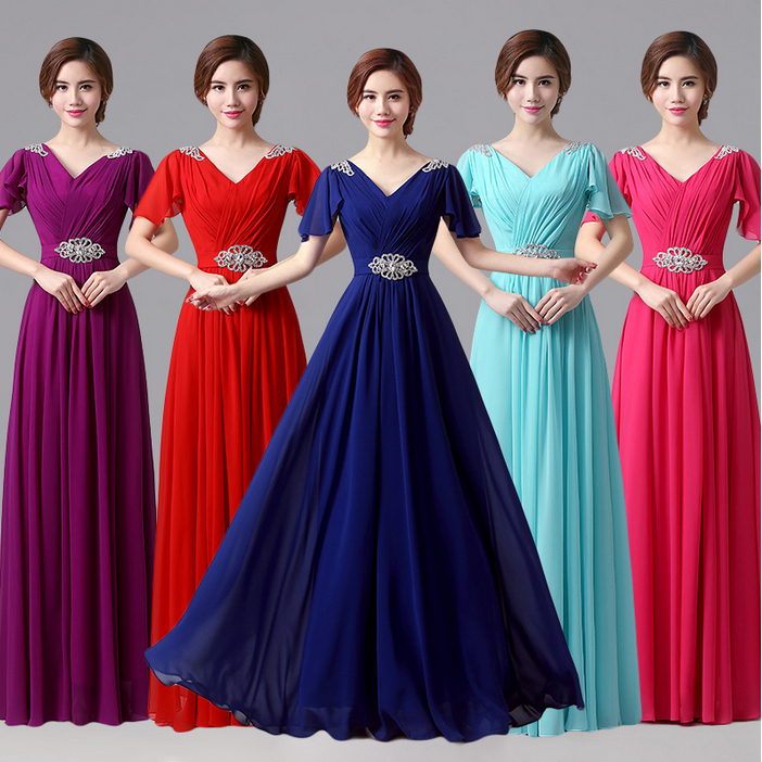 Popular Multi Color Bridesmaid Dresses-Buy Cheap Multi Color ...