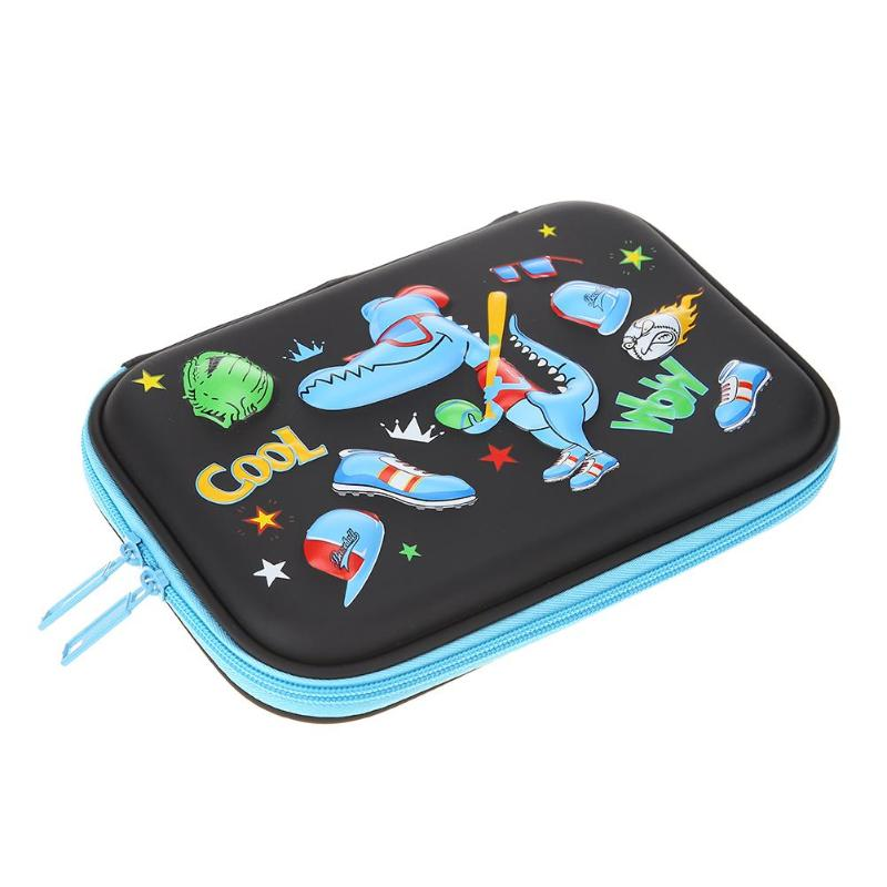 Hot Cute Cartoon Game Students Pen Bag Pencil Case Girls Boys Kawaii Large Capacity EVA PU Pencilcase School Supplies Stationery kawaii big zipper pencil case for school stationery supplies cute cartoon animal large capacity pencilcase storage organizer bag