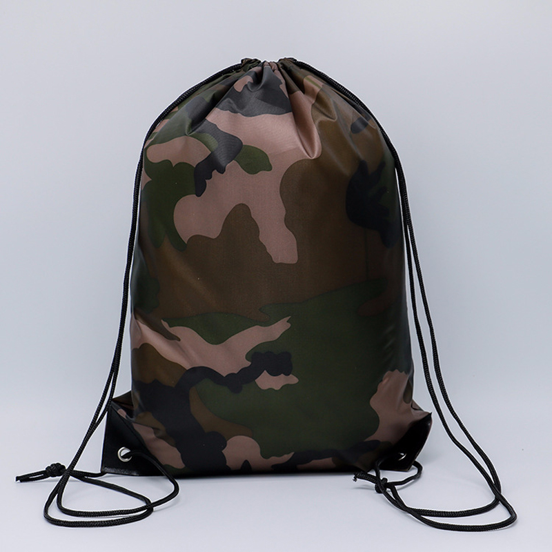 40PCS / LOT Creative Drawstring Bag Nylon Waterproof Cycling Backpack Sports Large Capacity Pouch Travel Backpack