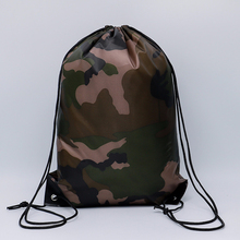 40PCS / LOT Creative Drawstring Bag Nylon Waterproof Cycling Backpack Sports Large Capacity Pouch Travel Backpack