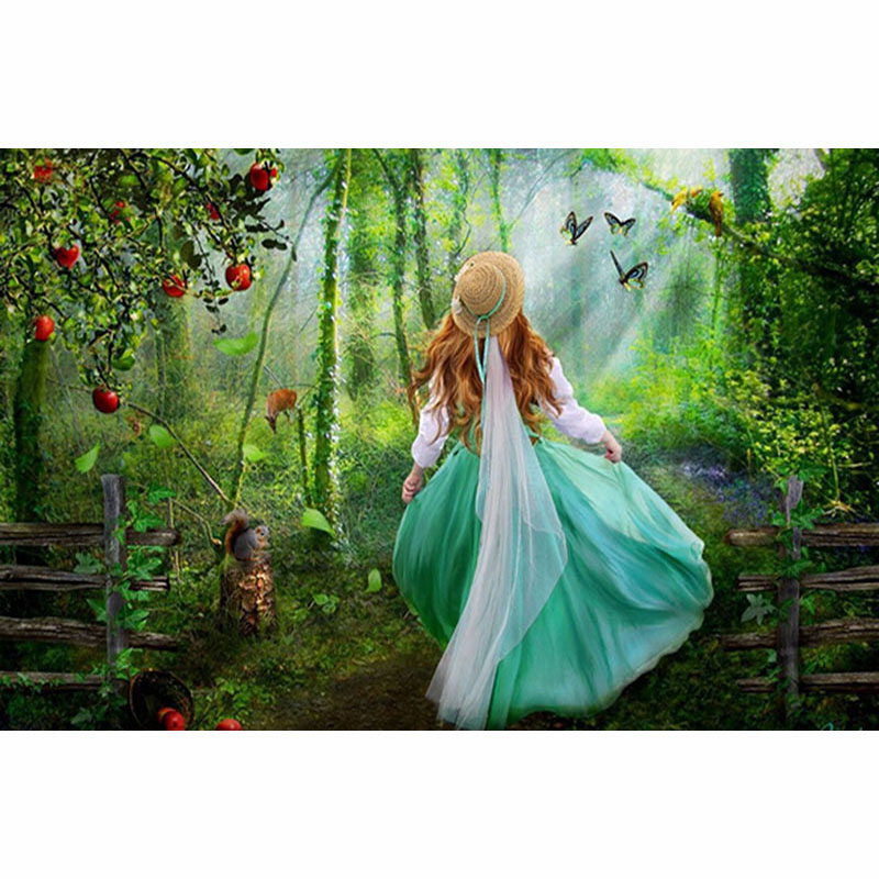 D SH 2018 5D DIY Forest Girl Diamond Painting Full Round Drill Cross-stitch Diamond Embroidery Home Decor Accessories.