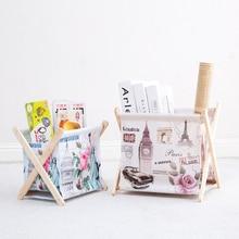 New Oxford cloth waterproof folding storage rack organizer desktop debris snack shelves Pen Container home decor