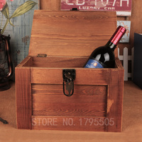 Hot Zakka Wooden Antique Storage Box Retro Vintage As Gifts Bar Makeup Organizer Wooden Box Make Up Organizer Boxes With Lock