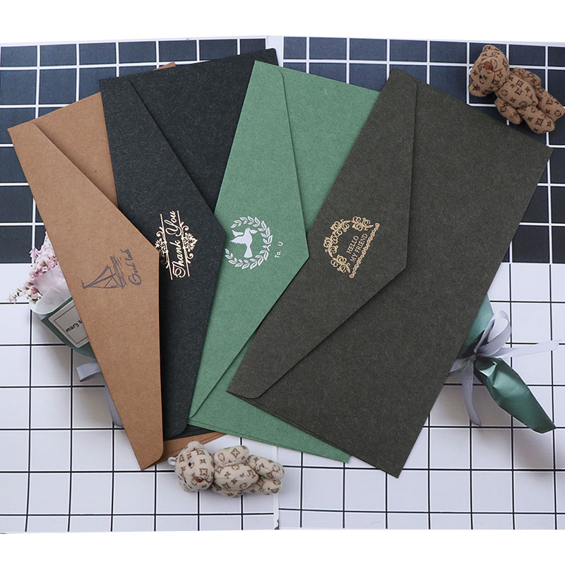 New Vintage Craft Paper Mixed Color Retro Envelope For DIY Festival Wedding Greet Card Scrapbooking Gift