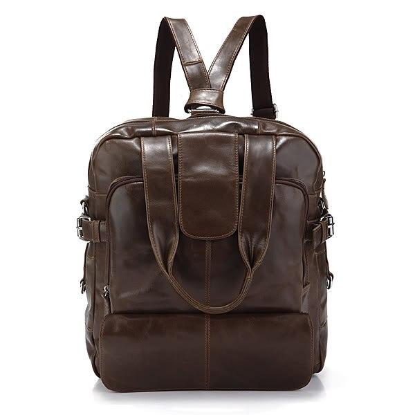 Augus Genuine Leather New Fashion Design Brown Color Multifunctional Messenger Bag Crossbody Bag Men Shoulder Laptop Bag 7065Q concise men s messenger bag with embossing and dark color design