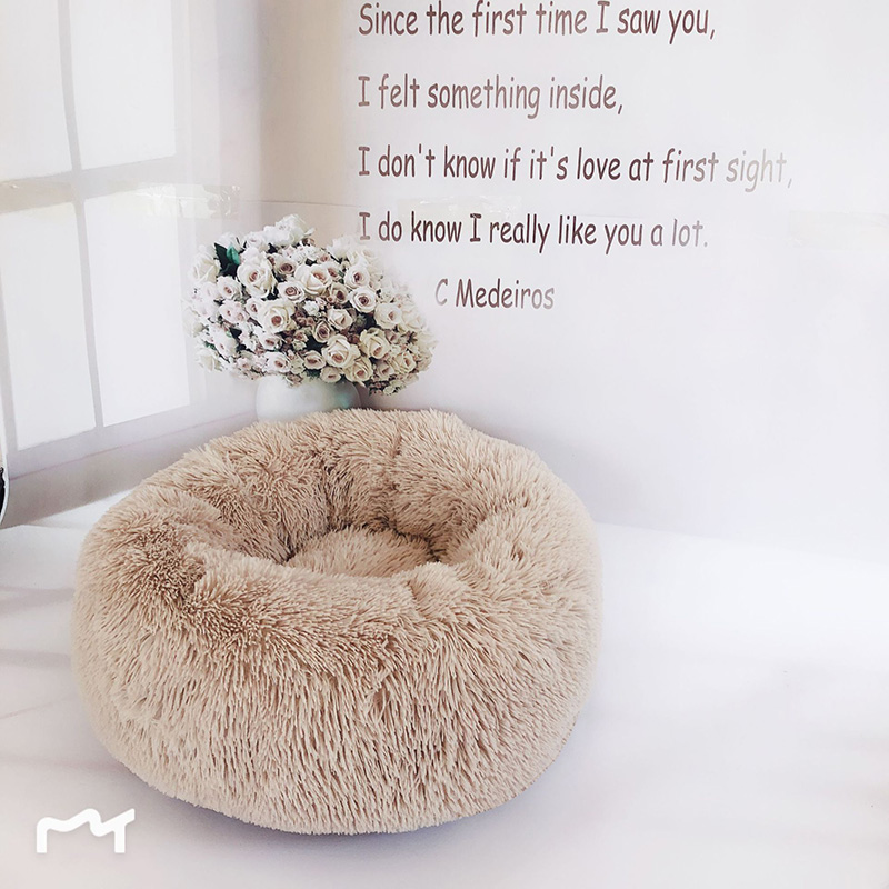 Купить с кэшбэком JORMEL 2019 Deep Sleep Dog House Kennel Round Nest Autumn Winter Cat Mattress for Small Medium Dogs Dog Cat House Pet Mat