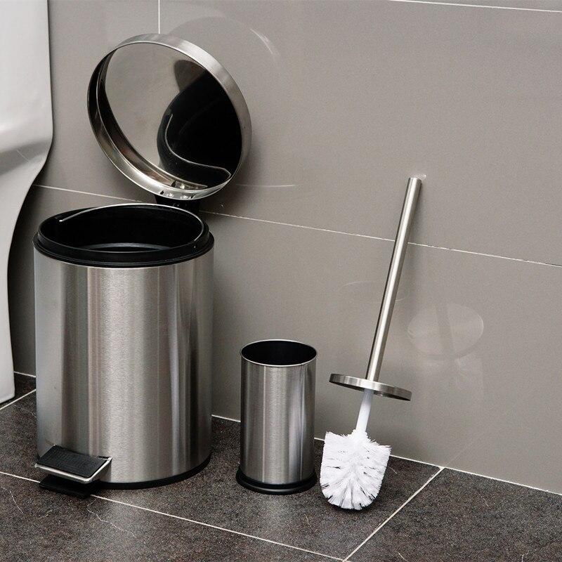 304 держатель туалетной щетки из нержавеющей стали мусорный бак набор туалетной щетки для ванной комнаты 8 литров круговой мусорный бак с наб