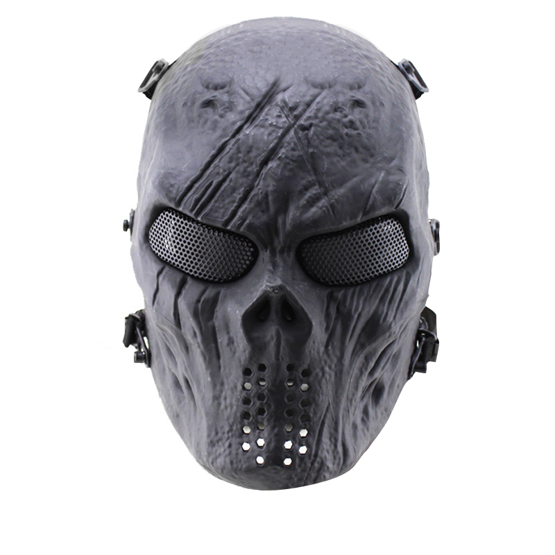 Brand New Skull Skeleton Army Airsoft Tactical Paintball Full Face Protection Mask jaisati gas mask tactical skull resin full face fog gas masks for cs wargame airsoft paintball face protective halloween mask