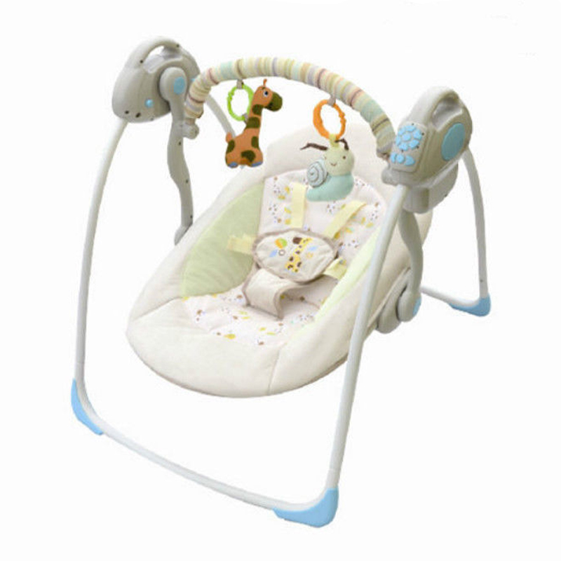 Baby Cradle to Sleep Musical infant Sleeping Rocking Chair Electric Swing <font><b>Bouncer</b></font> Crib Motion