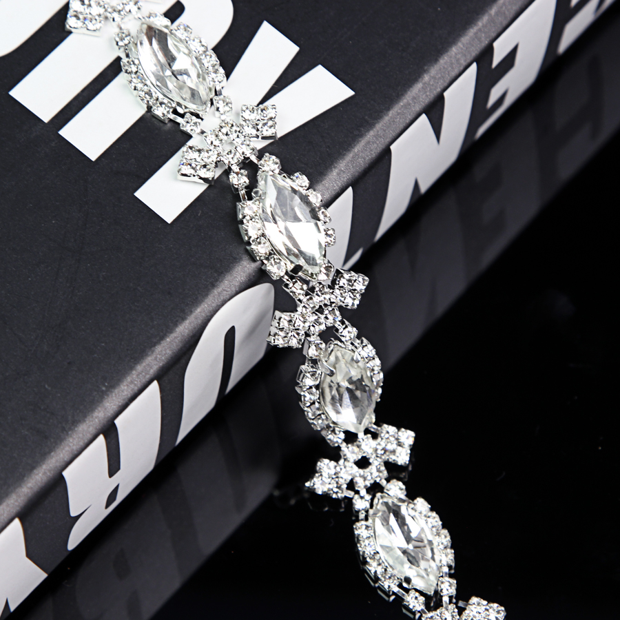 100Yards Crystal Rhinestone Applique Trim Bridal Wedding Applique New