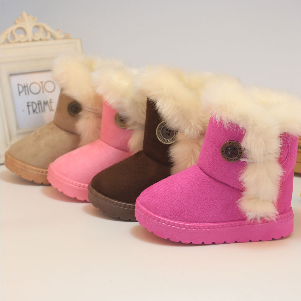 JACKSHIBO Kids Snow Boots Warm Snow Shoes for Girl Boys Winter Shoes Children Snow Boots ...