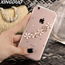 XINGDUO Handmade Bling Diamond Rhinestone Flower Cover Case For Samsung galaxy S8 S9 S10 Plus Note 8 9 A8 2018 Phone case
