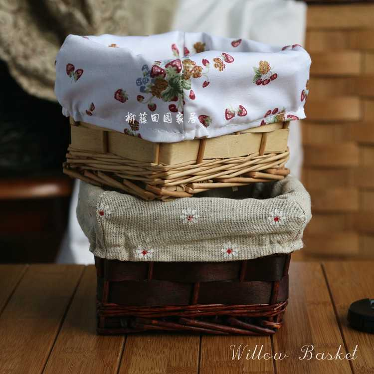 Mini rústico rendas rattan bambu cesta de armazenamento cesta de armazenamento do salgueiro cesta de armazenamento pequena caixa Para O Ano novo New Decro