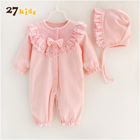 27Kids 2Pcs Lot Infant Clothes Baby Clothing Sets Spring Autumn Long Sleeve Baby Girls Clothes Causal