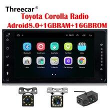 2 Дин Радио Android gps для Toyota Terios Corolla Старый Camry Prado RAV4 Универсальный радио Wi-Fi емкостный 7 дюймов dvd-плеер