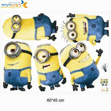 despicable me 2 minions wall stickers for kids rooms zooyoo1404 decorative wall art removable pvc cartoon wall decal