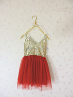 Eleven Story Baby Girls Summer Sling Shining Dress Children Lace Clothes CH511DS 12