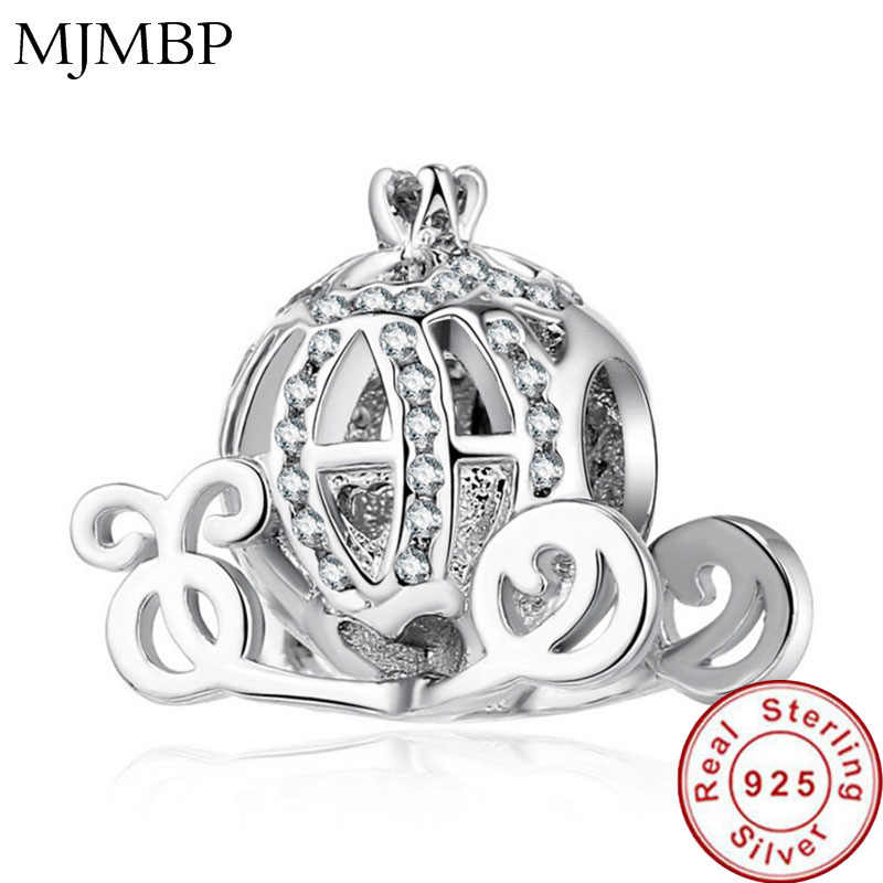 NEW Pumpkin Car Fine Jewelry 925 Sterling Silver Charms Beads 2018 Newest Collection Pandoraa DIY Gift For Bracelet & Necklaces