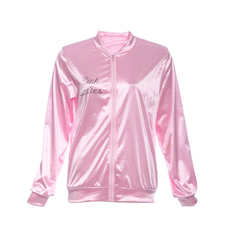 3978d17eec9 Pink Women Basic Coats Solid Tracksuit For Women Jacket Lady Retro ...