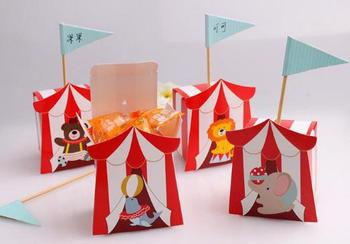 5.5X5.5X6.5cm Baby shower candy box--bear/elephant/dolphin/ lion animals Birthday Gift Box 200pcs\lot Free shipping