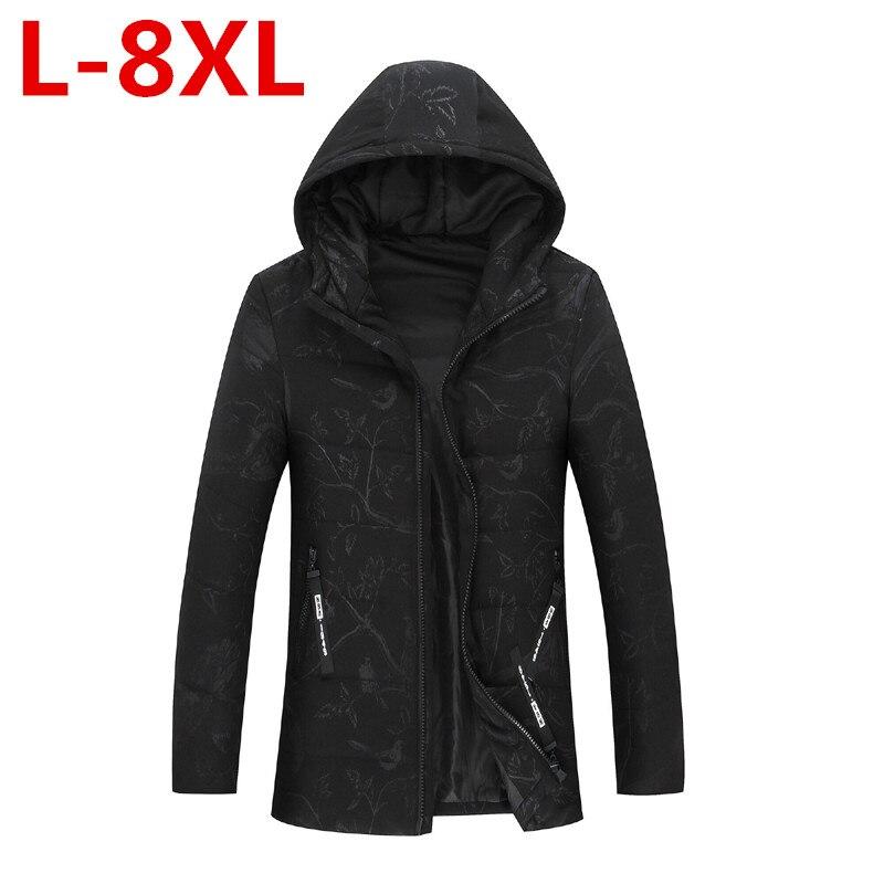 2017 New Winter Jacket Men Camouflage Casual Thick Warm Jacket Men's Parka Coat Male Fashion Hooded Parkas Plus Size 8XL 7XL 6XL цены онлайн
