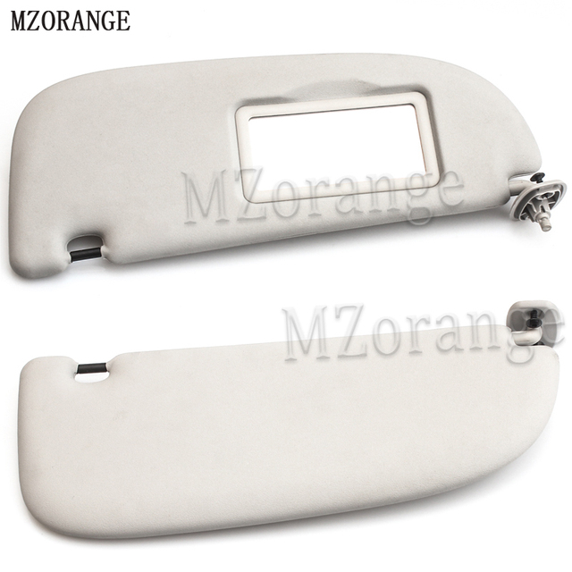 MZORANGE Gray Interior Sun Visor with Make-up Mirror FOR Peugeot 206 For Citroen  C2 1999 - 2008 GREY Left Right 41e2bfbe9a2