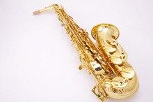 Mosazný nástroj Cadeson A-600GL Zlatý lak Alto saxofon Eb Sax Western Instruments Saxofon pro studenty s náušnicí