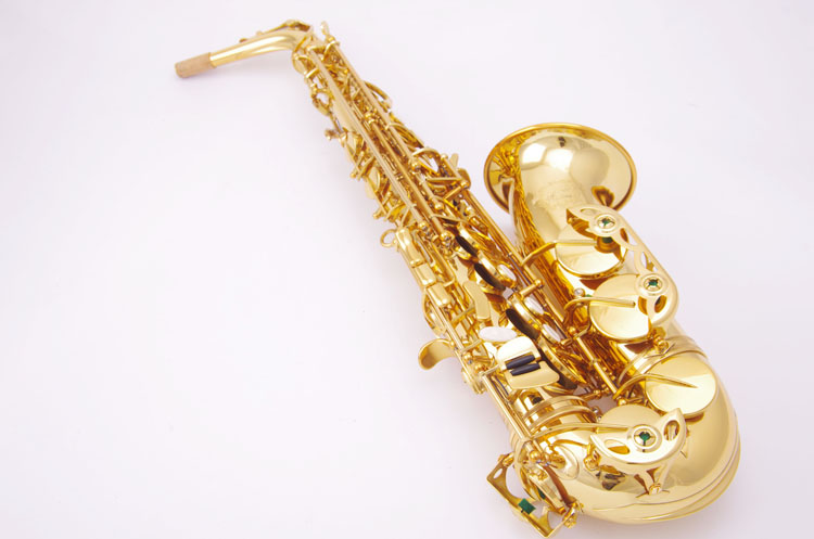 Brass Instrument Cadeson A-600GL Gold Lacquer Alto Saxophone Eb Sax Western Instruments Saxofone For Students With Mouthpiece