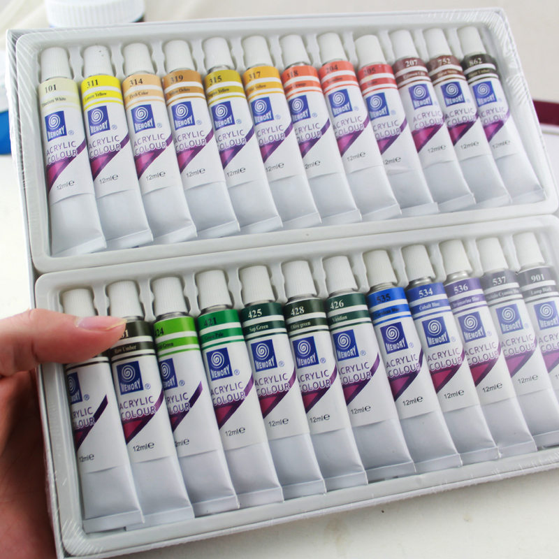 24 colors water resistant acrylic paints set for Acrylic paint water resistant