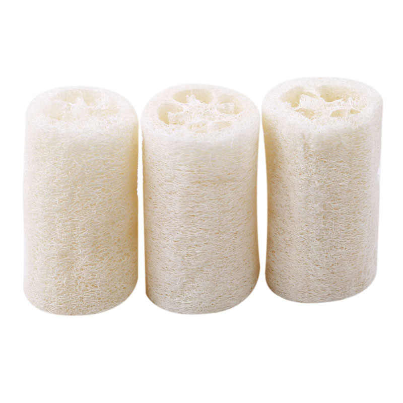 Hot Sale 3 Pieces Natural Loofah Luffa Loofa Bath Shower Sponge Spa Body Scrubber Horniness Remover Bathing Massage Sponge