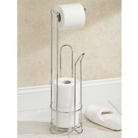European Style Roll Stand Popular Modern Minimalist Stainless Steel Floor Type Toilet Paper Holder T0 2