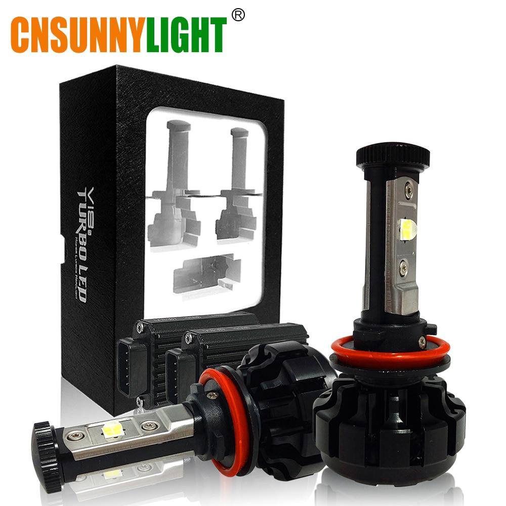 CNSUNNYLIGHT 10000LM Super Bright Voiture LED Phare Kit H7 H11/H8/H9 9005/HB3 9006/HB4 9012 Remplacer Ampoule w/Anti-Éblouissement Faisceau